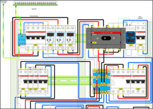 Монтажный план электрощита