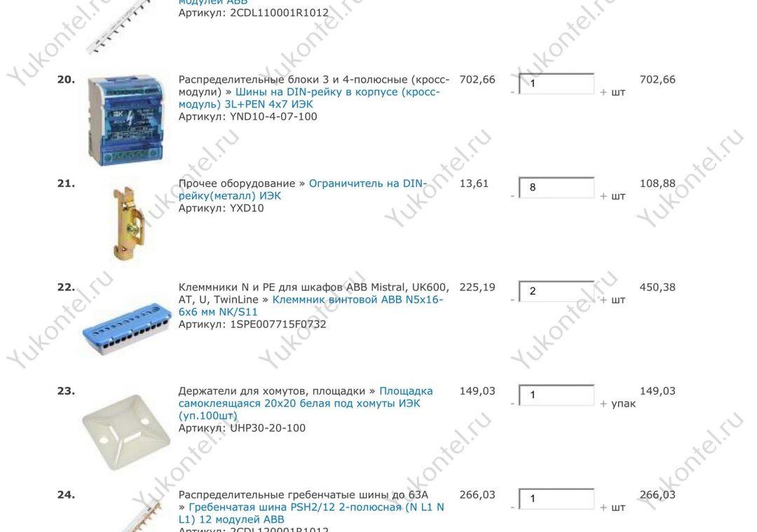 Мончегорск спецификация заказа