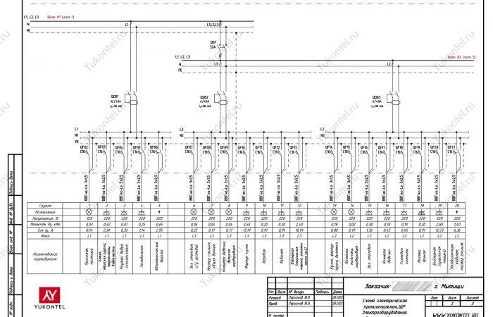 проект электрики частный дом Мытищи