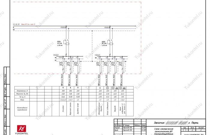 Проект электрики ч-дом Пермь