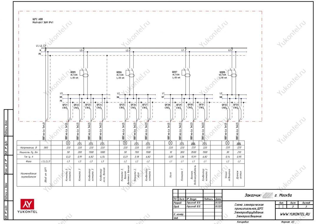 Проект электрики частный дом Чехов