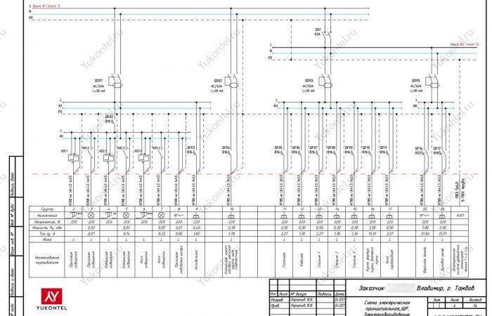 проект электрощита частный дом Тамбов