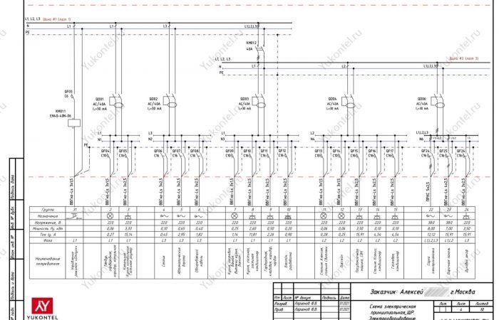 Проект электрощита для частного дома Москва